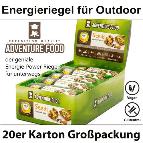 Adventure Food - Energy Bar Seeds - 20er Pack