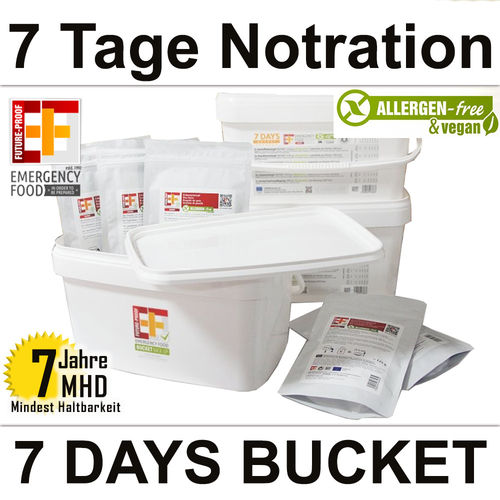 EF Emergency Food - 7 Days BUCKET - MHD 7 Jahre