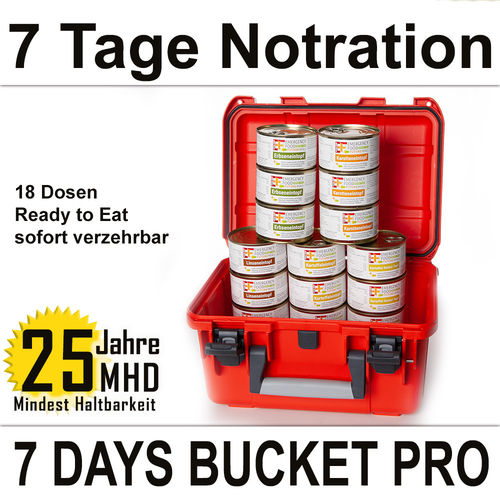 EF Emergency Food - 7 Days BUCKET PRO - MHD 25 Jahre