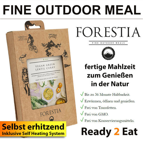 FORESTIA Veganes Curry mit grünen Linsen inkl. Selfheater