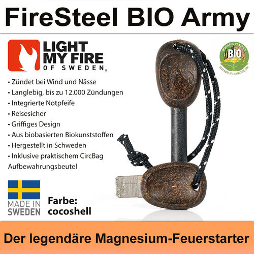 Swedish FireSteel BIO Army 2in 1 - cocoshell