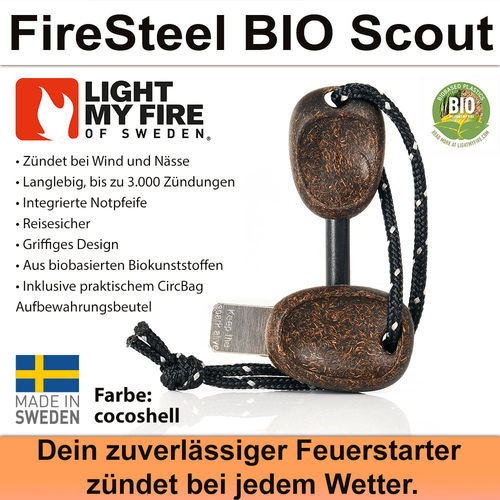 Swedish FireSteel BIO Scout 2in 1 - cocoshell