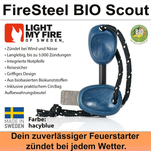 Swedish FireSteel BIO Scout 2in 1 - hazyblue