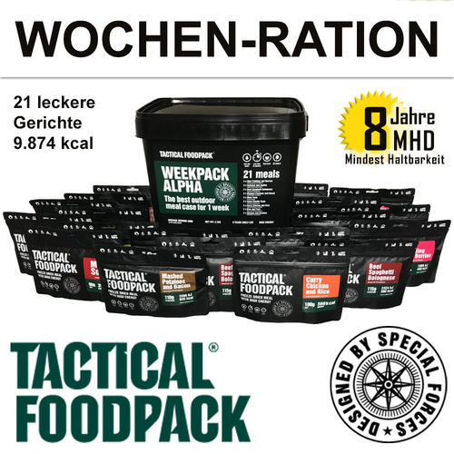 Tactical Foodpack - WEEKPACK ALPHA-7-Tage-Ration - MHD 8 Jahre