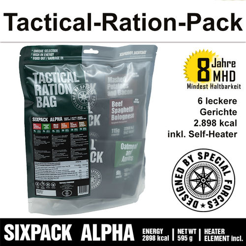 Tactical Ration Pack - SIXPACK ALPHA - MHD 8 Jahre