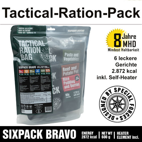 Tactical Ration Pack - SIXPACK BRAVO - MHD 8 Jahre