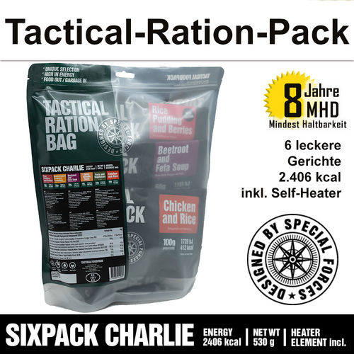 Tactical Ration Pack - SIXPACK CHARLIE - MHD 8 Jahre