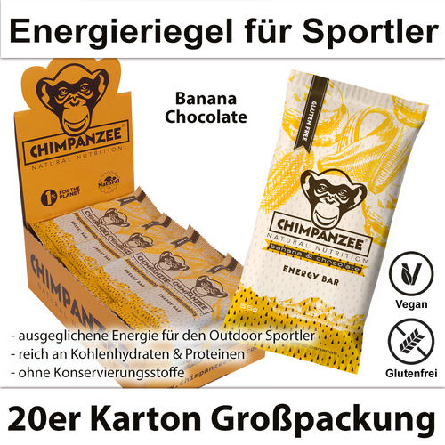 Chimpanzee Energy Bar Banana & Chocolate 20er Karton