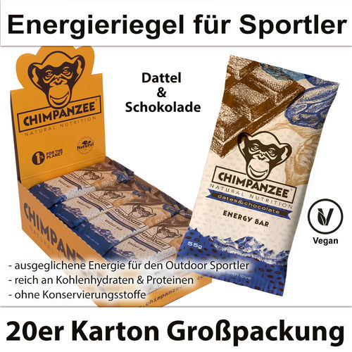 Chimpanzee Energy Bar Dates & Chocolate 20er Karton